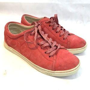 UGG Australia Tomi Pink Suede Sneakers women's 8